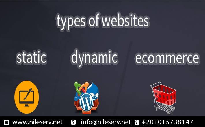انواع مواقع الويب